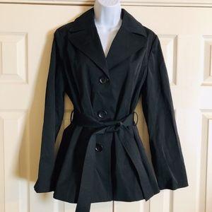 NWT Black Ellen Tracy Belted Jacket Women's Medium